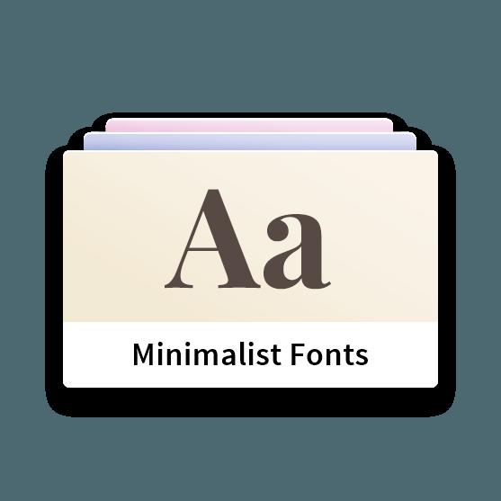 Minimalist WordPress Theme - Unlimited Fonts